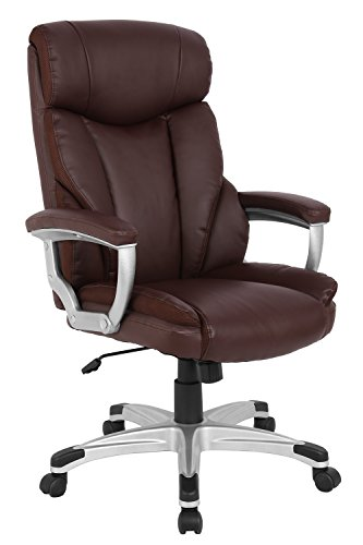 High-Back Office Executive Ergonomic Chair Racing Gaming Chair.Computer Swivel Office Chair w Armrests.ProHT Brown 05169A