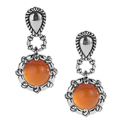 Carolyn Pollack Sterling Silver and Carnelian Drop Earrings