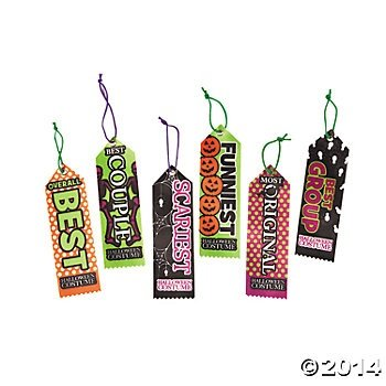 Fun Express Halloween Party Costume Contest Award Prize Ribbons - 12 Pieces - Adult Halloween Party Themes