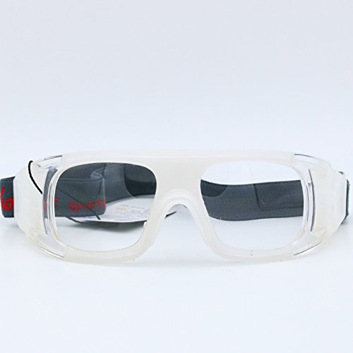 Sports Goggles with Unbreakable Frame and Comfortable Silicone for Running Cycling Baseball Fishing Driving Outdoor 100% UV Protection (white)