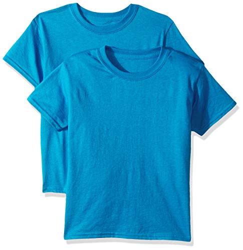 Gildan Kids DryBlend Youth T-Shirt, 2-Pack, Sapphire, Large (Tshirt Gildan Youth)