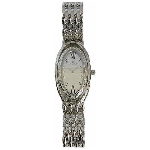 Charmex L's Bracelet Watch 5900 23.5x41mm Silver Steel Bracelet & Case Synthetic Sapphire Women's Watch