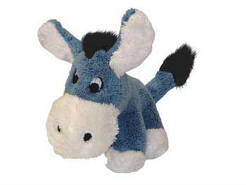Kyjen PP01138, PipSqueaks Donkey Talking Plush Dog Toys Batteries Included, Small, Blue