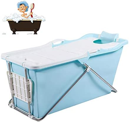 折りたたみバスタブ GYF 折りたたみ式バスタブ新生児用浴槽 ベビータブ 折りたたみ式バスタブ 子供用バスタブ 環境を守ること 滑り止め 強い耐荷重 124x59x57cm (Color : Blue)