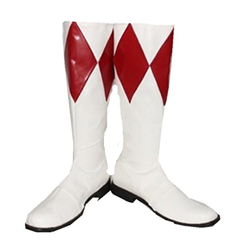 Power ranger Red ranger cosplay costume Boots Boot Shoes (Power Ranger Boots)
