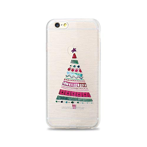 Winter Phone Case for iPhone 6 6s Plus Lovely Emboss Soft TPU Cover for iPhone 7 8 Plus X 5 5s SE Christma Case Funda,Christmas Tree,for iPhone 8