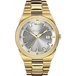 Bulova 97B137 Mens Dress Gold Steel Bracelet Watch