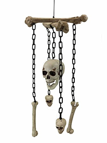 Halloween Decor Gothic Skull and Crossbones Wind Chime [74668] for $<!--$22.21-->