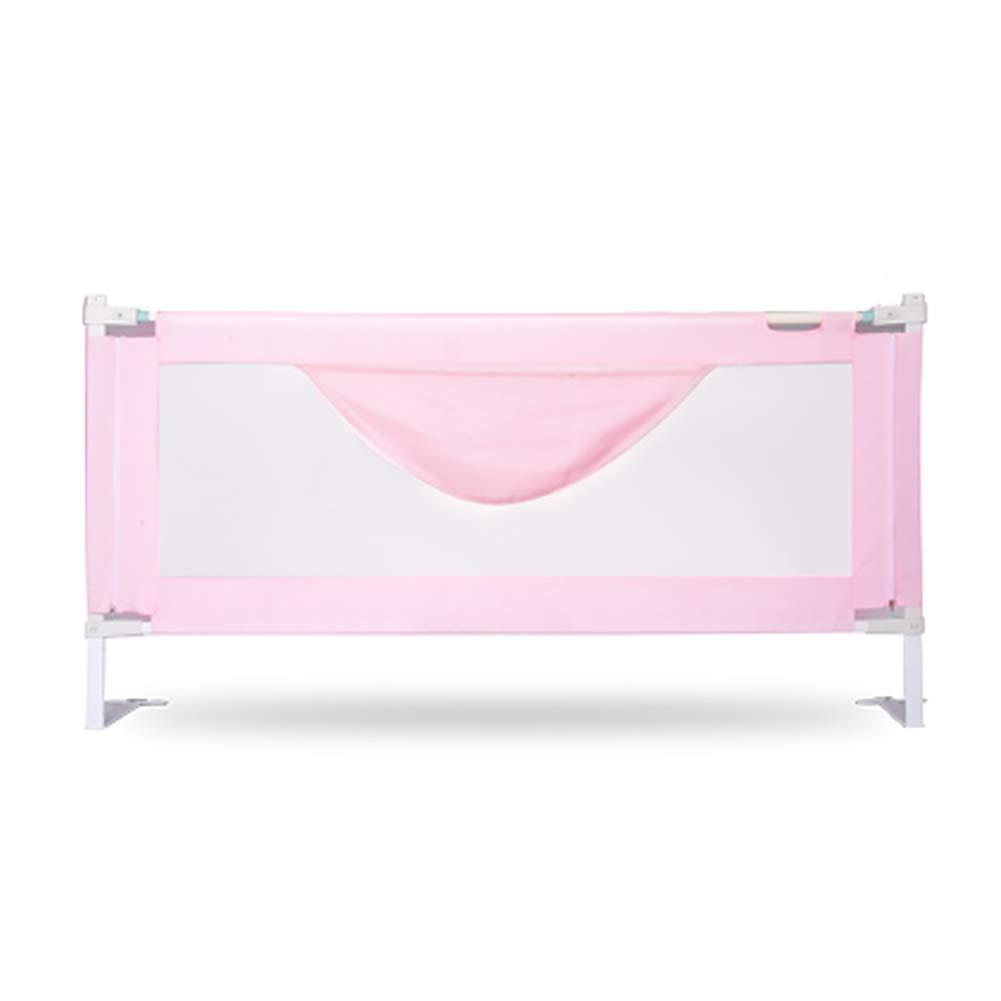 安全な折りたたみ可能な定常保護幼児の赤ちゃんと子供のための幼児ベッドレール (色 : Pink, サイズ さいず : 1.8m) 1.8m Pink B07K49T85P