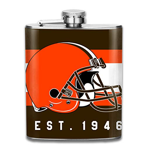 - Aoskin Cleveland Browns Portable Stainless Steel 7oz Hip Flask Flagon Whiskey Wine Pot Bottle