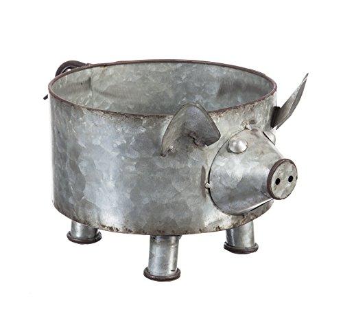 - Cape Craftsmen Pig Galvanized Metal Planter