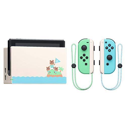 "Nintendo Switch with Green and Blue Joy-Con - Animal Crossing: New Horizons Edition - 6.2"" Touchscreen LCD Display, 802.11AC WiFi, Bluetooth 4.1 + NexiGo 128GB MicroSD Card Holiday Bundle"