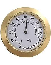 Igrometro analogico in ottone sigaro tabacco misuratore di umidità e lente in vetro per umidificatori misuratore di umidità per fumo - oro