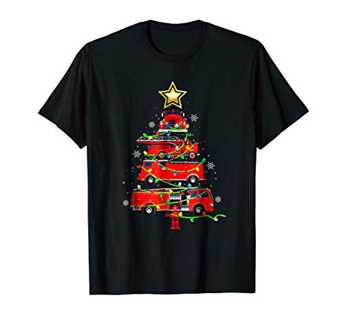Firefighter Truck Christmas Tree T Shirt Ornament Decor Gift