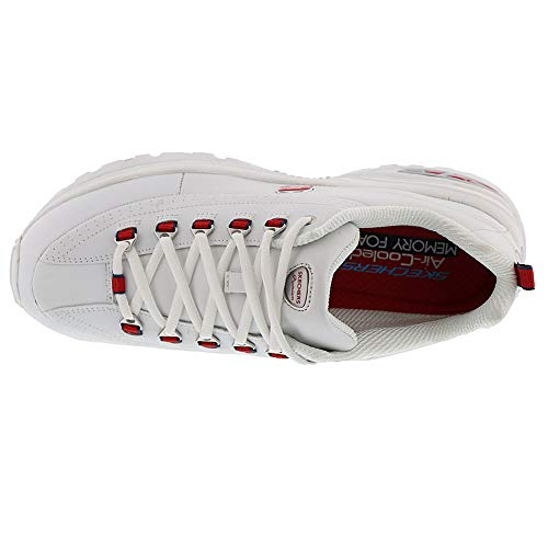 Premium Skechers12491 Double Blanc Seeing Rouge Femme xHfYawzqf