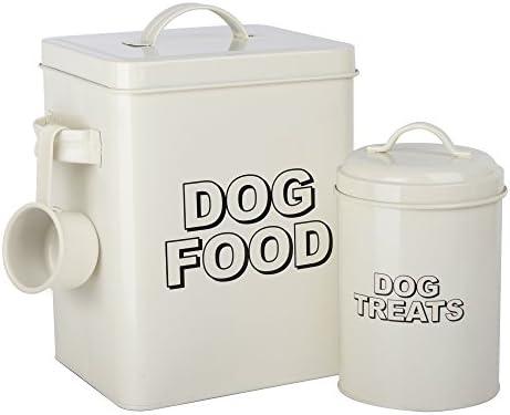 Caja de almacenamiento para comida de perros de estilo vintage clásico CrazyGadget® de color crema.: Amazon.es: Hogar