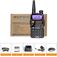 MeterMall Hot UV-5RE Plus Dual Band Two-Way Radio Interphone 136-174/400-520MHZ UV5R Black
