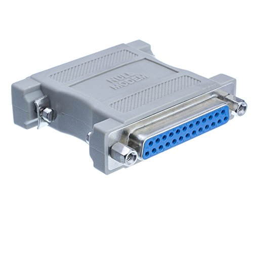 (CableWholesale Null Modem Adapter, DB25 Male to DB25 Female)