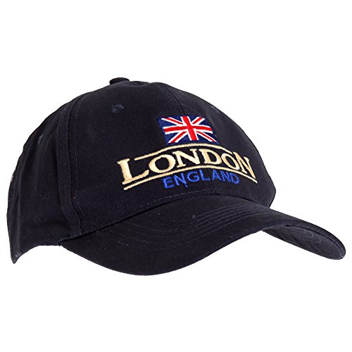Unisex Navy Blue London England Union Flag Cap (One...