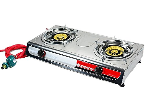 Portable Propane Gas Stove DOUBLE 2 Burner CAMPING TAIL GATE Tailgating - Best Songs Tailgate