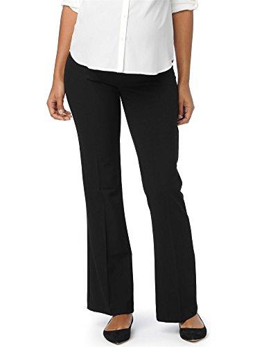 Motherhood Maternity Women's Bi-Stretch Secret Fit Belly Flare Leg Pant, Black, Long Small by Motherhood Maternity