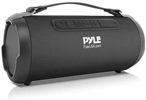 Wi-fi Moveable Bluetooth Boombox Speaker – 200 Watt Rechargeable Growth Field Speaker Moveable Music Barrel Loud Stereo System with AUX Enter, MP3/USB/SD Port, Fm Radio, 4″ Tweeter – Pyle PBMSPG1BK