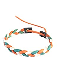 Tri Color Irish Pleated Leather Look St. Patrick's Day Bracelet
