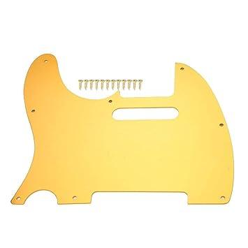 Dilwe TL Estilo Pickguard con Tornillos para Guitarra Eléctrica Accesorios(Oro): Amazon.es: Deportes y aire libre