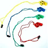 12 Football Whistles - Football party bag fillers by Playwrite