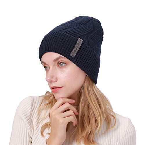 Lyilepu Unsex Women Men Chic Knitting Hat Fall Winter Soft Warm Casual Wool Beanie Cap One Size