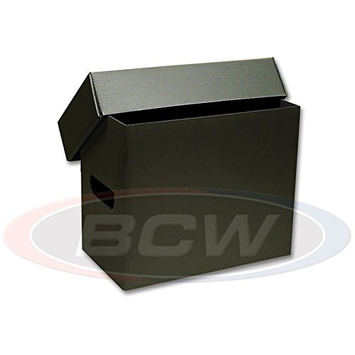 5 Black Plastic Comic Book Short Storage Boxes - BCW