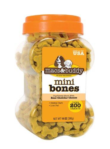 Macs and Buddy Fresh Cheese Mini Bones, 14-Ounce, My Pet Supplies