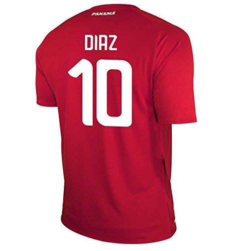 スタウト楽しいマダムNew Balance Men's DIAZ #10 Panama Home Soccer Jersey FIFA World Cup Russia 2018/サッカーユニフォーム パナマ ホーム用 ディアス #10