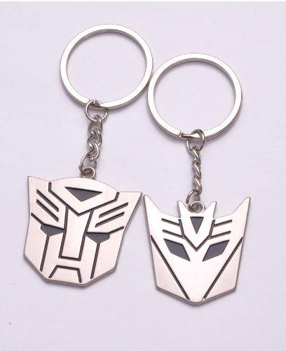 Optimus Prime Ring (2pcs Transformers Keychain Optimus Prime and Decepticons Autobots Logo Keyring)