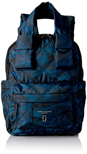 Marc Jacobs Women's Camo Printed Nylon Knot Backpack, Navy Multi