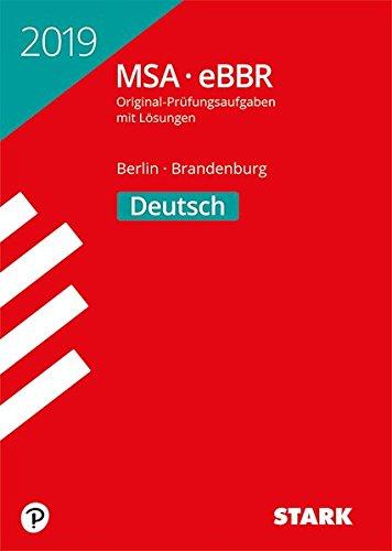 Original-Prüfungen MSA/eBBR - Deutsch - Berlin/Brandenburg
