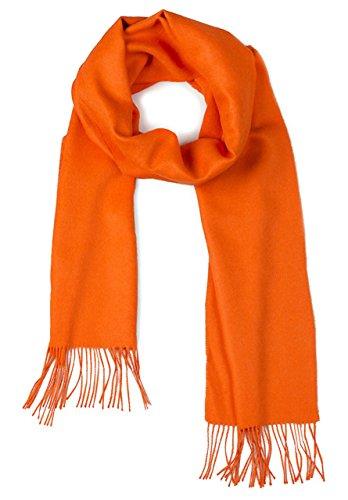 - 100% Pure Baby Alpaca Scarf - Bright Happy Solid Colors (Tangerine)