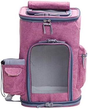 慰め猫犬のキャリアのバックパック、旅行のために設計されている屋外の使用のためのペットクラブ柔らかい木枠に行きなさい (色 : Pink)