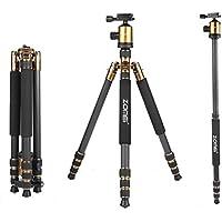ZOMEi Z818C Lightweight Carbon Fiber Tirpod With 360 Degree Ballhead For Camera Canon Nikon Sony Sanmsung Olumpus SLR Cameras (Gold)