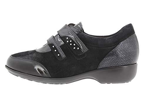 Larghezza Piesanto Scarpe Con Comfort Condoncino Negro Speciale 9676 Donna Pelle qZqwaP