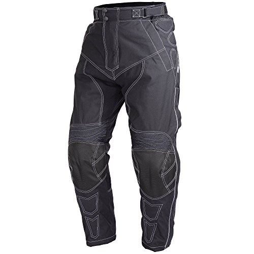 Men Motorcycle Riding Pants WaterProof WindProof Black with Removable CE Armor PT5 (M)