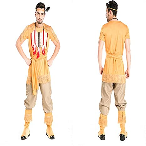 Caqui de Halloween ropa ropa para hombre indio cazador arqueros montados juego servicio de ropa de cosplay: Amazon.es: Juguetes y juegos