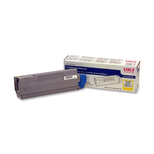 Okidata Yellow Toner Cartridge 43381901, Office Central