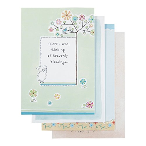 DaySpring Thinking of You Boxed Greeting Cards w Embossed Envelopes - Really Woolly, 12 Count