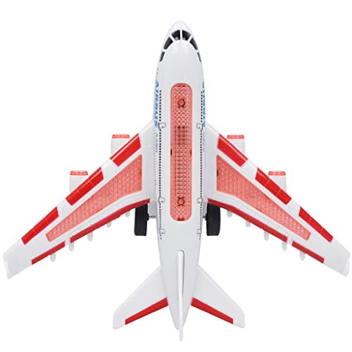 e Control Airplane Toy Plane A380 Airbus - w/ Flashing Light & Jet Engine Sound - Great Gift for Boys & Girls - Red ()