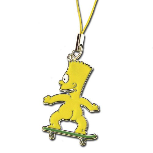 licensed-simpsons-cellphone-charm-of-bart-skateboarding-naked