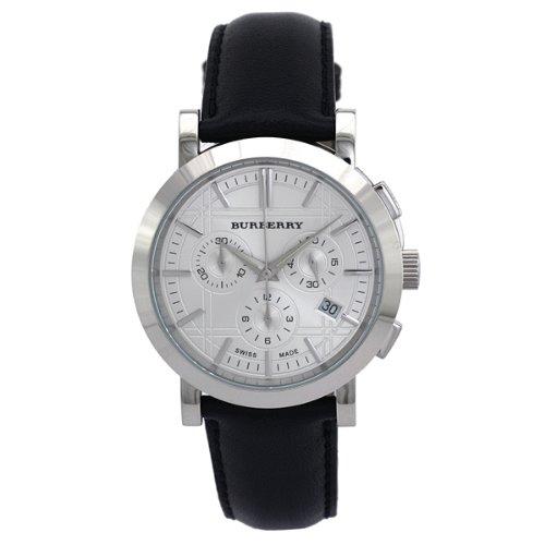 [BURBERRY]バーバリー 腕時計 クロノグラフ【BU1361】シルバー文字盤 ブラックレザー メンズ[並行輸入品] B01LVVLXOL