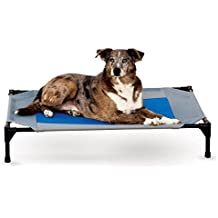 """K&H Pet Products Coolin' Pet Cot Elevated Pet Bed Large Gray/Blue 30"""" x 42"""" x 7"""""""