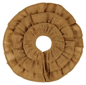 (Burlap Triple Ruffle Tree Skirt (16