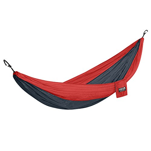 ENO Eagles Nest Outfitters - DoubleNest Hammock, Portable Hammock for Two, Red/Charcoal (FFP)